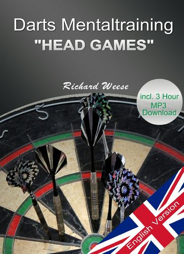 "Darts Mentaltraining ""Head Games"" + 3 hour Audio, E-Book or Book, ENGLISH"